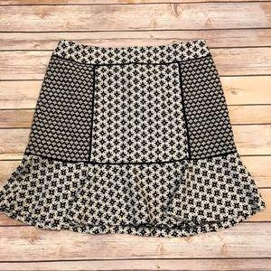 Loft Back and Cream skirt, size 6